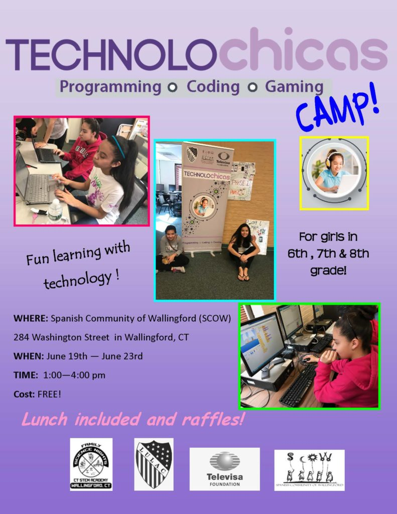 Technolochicas Camp flyer